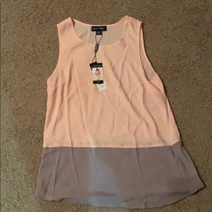 Tops - NWT Beautiful peach/taupe top.  Size S/M